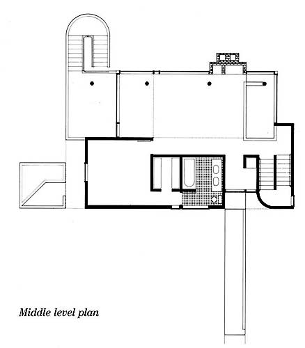 The Smith House by Richard Meier in Darien CT Drawing Plan View – Richard Meier Smith House Floor Plans